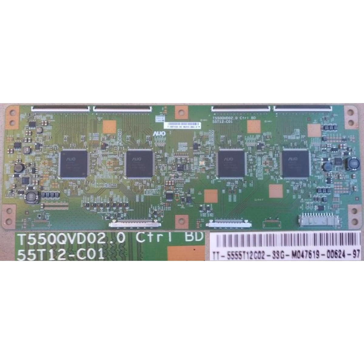 SONY KD55X9004A T-CON BOARD T550QVD02 0 55T12-C01 5555T12C02